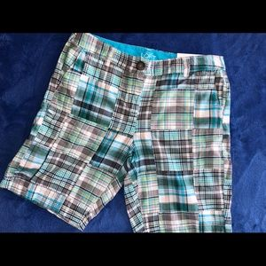 NWT Loft plaid shorts 4P original Madras Plaid